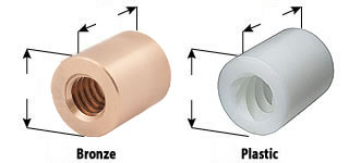 acme bronze sleeve nuts, plastic sleeve nuts