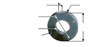 Steel Mounting Flanges for Threaded Mount Style Nuts - Part Numbers & Dimensions