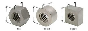 Steel & Stainless Steel Nuts - Part Numbers & Dimensions