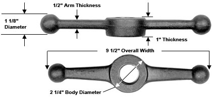 Speed Ball Wing Nuts - Part Numbers & Dimensions